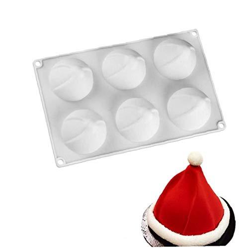 1pc Mousse silicone Moule 3D Swirl Forme de Noël Chapeau de gâteau Moules de cuisson Moule Chapeau de Père Noël moule moule en silicone