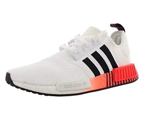 adidas Originals Herren NMD_R1 Sneaker, Weiß/Schwarz/Solarrot, 44 EU