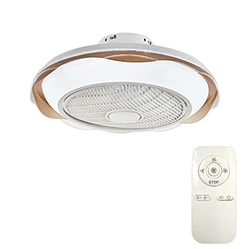 Ventilador de perfil bajo de montaje semi, control remoto LED, ventilador de techo de perfil bajo con luz, velocidad de viento ajustable y brillo ajustable, para cocina de baño interior (Color : C)