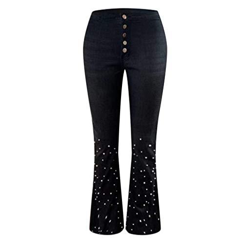 Salalook damesjeans, tas voor dames met ritszak, denim, hoge taille, dames jeans, grote maat, damesjeans, hoge taille, flare, dames jeans
