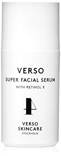 Verso Skincare | Super Facial Serum | Anti-Aging, Boosting the Collagen Production, Healing and Strengthening the Skin | Contains Retinol 8, Hyaluronic Acid & Turmeric | 1.01oz