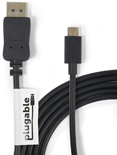 Plugable USB Type C(USB-C) - DisplayPort 変換ケーブル 1.8m、2018 iPad Pro、2018 MacBook Air、2017/...