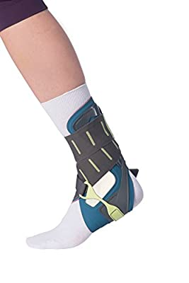 OPED VACOtalus Ankle Brace for sprains, Achilles Injuries, Support, stabilization. Can Easily be Worn Inside a Shoe.