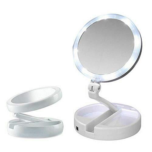 Espelho Luz Led Dobrável Portátil - AIKER