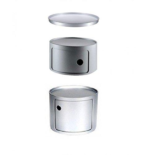 Composizione Componibili Kartell Diametro 42 cm - Silver