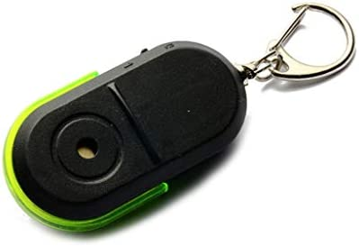 MEIYIN Wireless Anti Lost Alarm KeyChain Whistle Voice Control LED Light Key Finder Locator product image