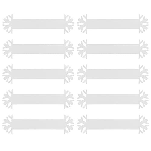 STOBOK 20 Piezas Servilletas de Navidad Anillos de Copo de Nieve Papel...