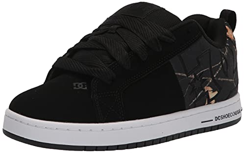 DC Court Graffik Sq, Zapatos de Skate Hombre, Impresión en Negro, 49 EU