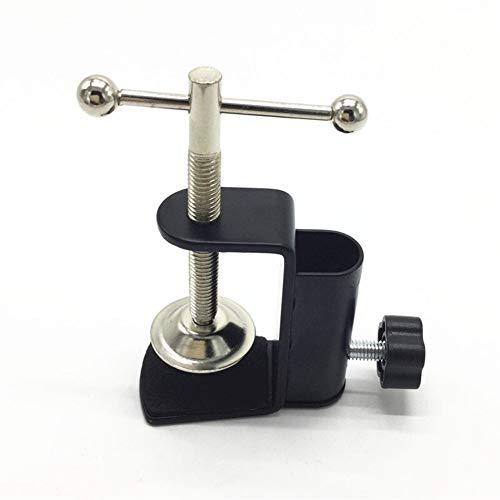 FUQUANDIAN Abrazadera de montaje de mesa de metal para micrófono suspensión brazo tijera soporte soporte con un tornillo de posicionamiento ajustable accesorios