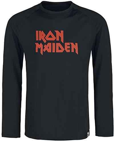 Iron Maiden Functional Longsleeve Hombre Camiseta Manga Larga Negro L