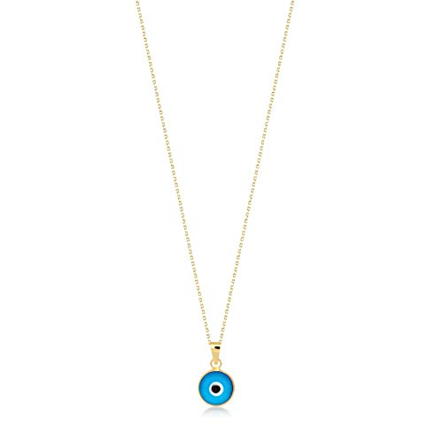 Collier pour femme en or jaune 14 carats 585 avec pendentif