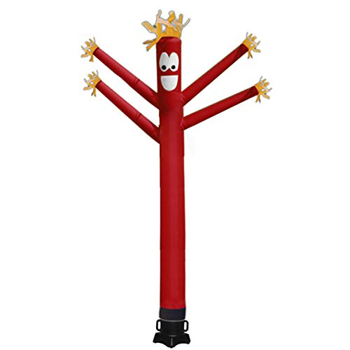 Mkevi 20ft Sky Air Puppet Dancer Four Inflatable Arms Flailing Tube Man Wacky Wavy Wind Flying Dancing Man for DIY Stand Out Advertising (NO 18IN Blower)