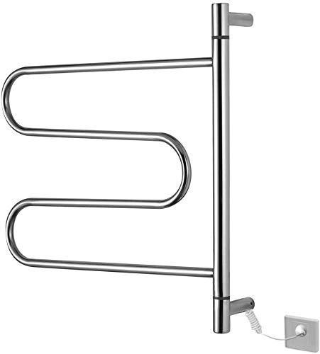 LAN-ZHENS Cuarto de baño toallero Fijo Toalleros Bases eléctrico termostática Giratorio de...
