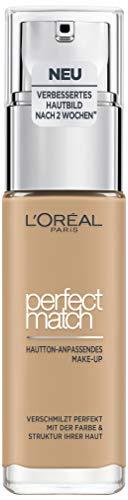 L'Oréal Paris Perfect Match Foundation, flüssiges Make-Up, deckend und feuchtigkeitsspendend für einen natürlichen Teint - 3.5N peach (30 ml)