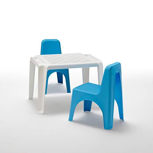 BICA Set di Sedie e Tavolo per Bambini, Polipropilene, Mida Turchese