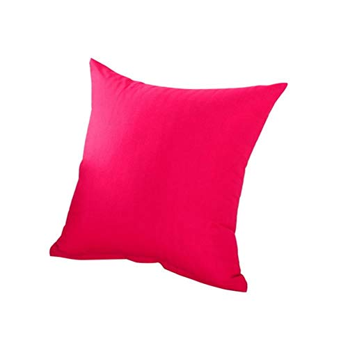 Rainandsnow 1 funda de almohada decorativa de algodón de color sólido relajante para cojines de rodilla para dormir bien 40 x 40 cm, L