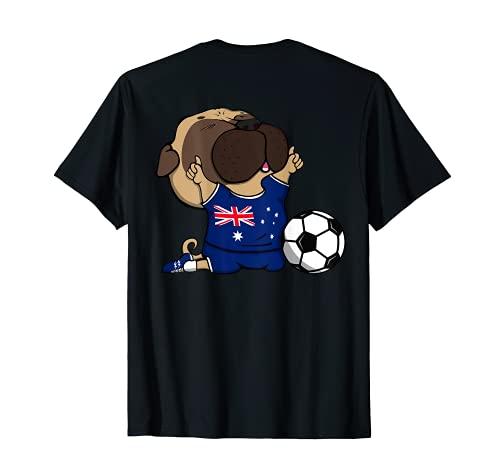 Pug Australia Soccer Lovers Jersey Aficionados al fútbol australiano Camiseta
