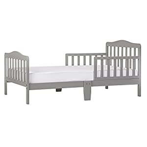 Dream On Me Classic Design Toddler Bed in Cool Grey, Greenguard Gold Certified