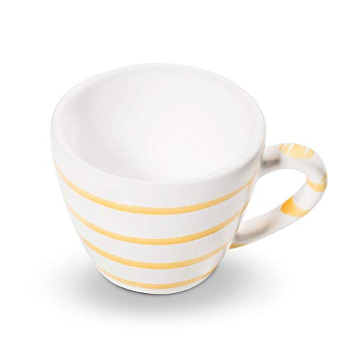 GMUNDNER KERAMIK Espressotasse Gourmet Füllmenge : 0.06 Liter Gelbgeflammt Geschirr, handgemacht in Österreich