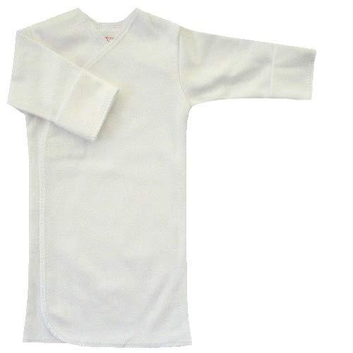 【未熟児】【低出生体重児】【早産児】【NICU】用 ベビー服:長袖長肌着 ホワイト (2300-3000g)