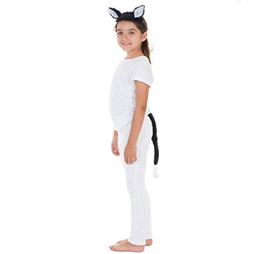 Déguisement Chat pour Les Enfants. Queue et Les Oreilles. Taille Unique 3-12+ Ans.