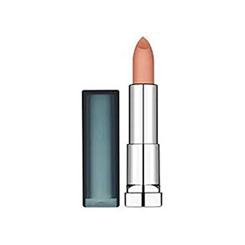 Maybelline New York Make-Up Lippenstift Color Sensational Creamy Mattes Lipstick Nude Embrace / Elegantes Hellbraun mit mattierendem Finish, 1 x 5 g