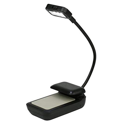 HGDH Iluminación Moderna 1PC Brillante Flexible del Clip en la luz LED Libro turística del Libro de Lectura de la lámpara de Booklight for Kindle/eBook Lectores/PDA (Body Color : White)
