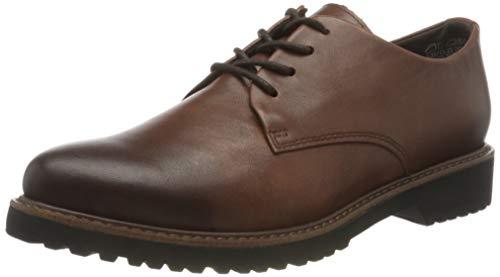 MARCO TOZZI Damen 2-2-23733-25 Leder Schnürhalbschuh Sneaker, Cognac Comb, 36 EU