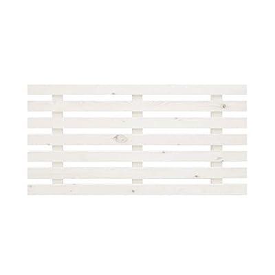 Uso: Cabecero para cama de dormitorio con estilo nórdico. Válido para camas de 140/150 cm. Material: Listones de pino flandes de 7cm Tamaño: ancho 160 cm x alto 73 cm x grosor 4 cm Montaje: El producto se entrega montado, fácil de instalar, incluye h...