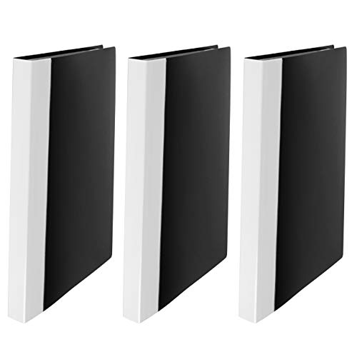JIKIOU 40-Pocket Bound Sheet Protector Presentation Book 80-Page Capacity Clear Pockets Top Loading Acid Free Plastic Sleeves,Cover Size 12.2