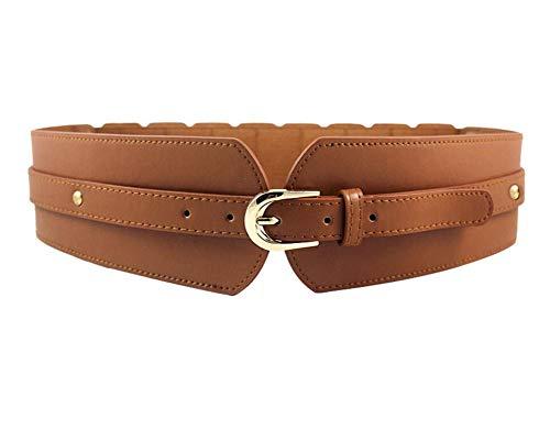 Oyccen Mujer Cinturón Ancho Elástico Banda de Cintura Corsé Ajustable Cinturones de Señoras para Vestidos Abrigos Pantalones
