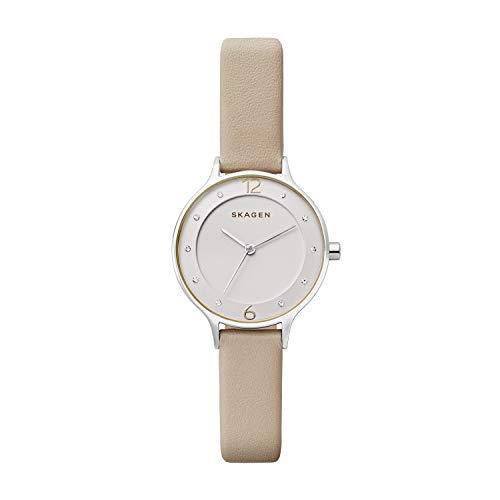 Skagen Damen Quarz Uhr mit Leder Armband SKW2648