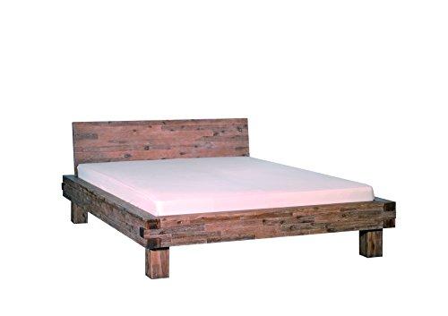 Bett San Marcos, Akazie massiv, sandgestahlt und gebeizt, 140 x 200 cm