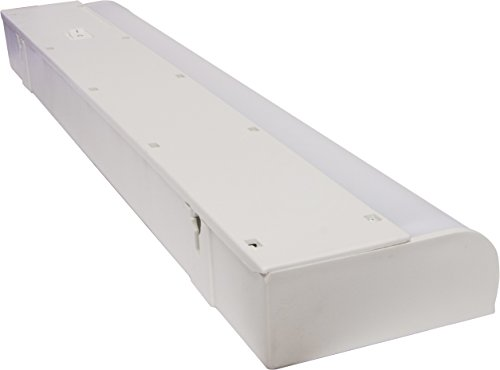 GE 18 Inch Fluorescent Under Cabinet Light Fixture, 10198, Plug-In, Slim Profile, 3000K Soft White, Plastic Housing, Easy to Install, White Finish