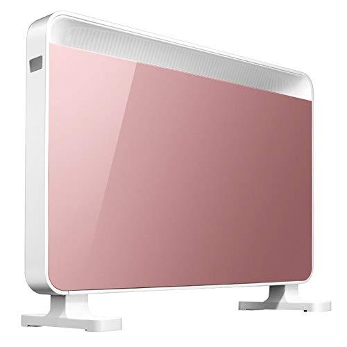 BUKEHANWEI Panel Calentador eléctrico, Vidrio Templado Convector Radiador for el hogar, montado en la Pared o Independiente, IPX2 Impermeable/Temporizador semanal y Avanzada del termostato