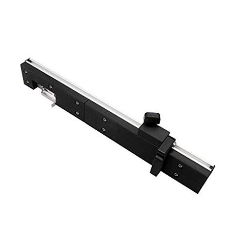 Präzisionswinkelmesser Tischsäge Gehrungsanschlag für Tabelle Sägeanordnung Lineal Winkelmesser 450 mm (Silber)