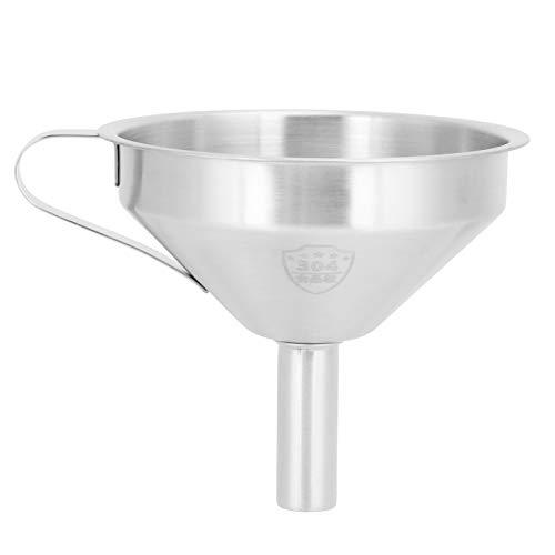 Öltrichter, abnehmbarer Filter Küchentrichter, Edelstahl Handgriff Design Mehrzweck für Restaurant Silver Home Küchenzubehör(Small 11CM)