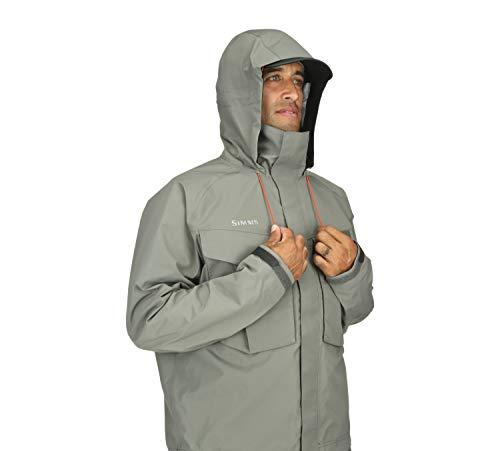 Simms Mens Freestone Wading Jacket, Waterproof Fishing Coat, Striker Grey, X-Large
