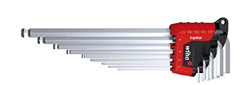 Wiha Stiftschlüssel Set im ErgoStar Halter (369RH9), Innensechskant Schlüssel Set