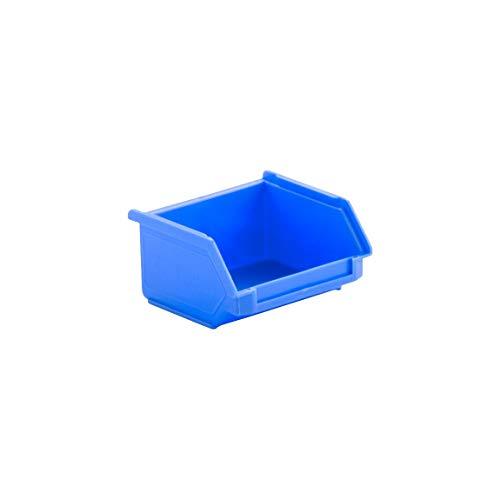 SSI Schäfer Kunststoffbox Sortierbox Stapelbox LF 110, Aufbewahrung, Made in Germany, Polypropylen (PP), L 92 x B 100 x H 50 mm, 0,26 l, Blau