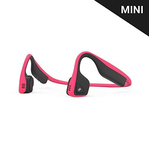 Aftershokz Titanium Mini Wireless Bone Conduction Bluetooth Headphones, Shorter Headband Size for Smaller Fit, Open-Ear Design, Pink, AS600MPK (Renewed)