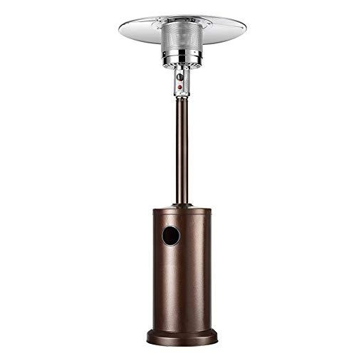 Gaskachel Paraplu, Commerciële Terras kachel - Pulse Ontsteking En Draagbare Roller, Vergroot Counterweight Chassis RVS Outdoor Heater