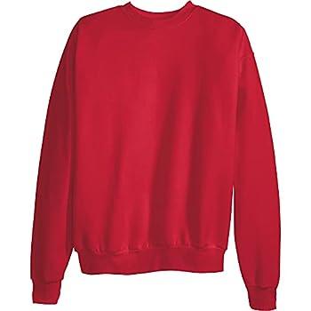Hanes Men s EcoSmart Sweatshirt Deep Red Small