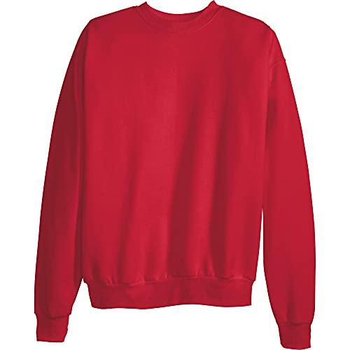 Hanes Men's EcoSmart Sweatshirt, Deep Red, Small