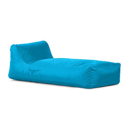 Avalon Pouf a Forma di Letto in Tessuto Tecnico Impermeabile e antistrappo Samba per Esterno Colore Azzurro sfoderabile