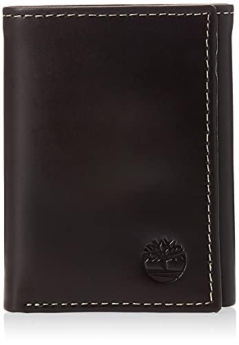 Timberland Herren Leather Trifold Wallet with ID Window Reisezubehr-Dreifachgefaltete Brieftasche, Braun (Wolken), Einheitsgröße