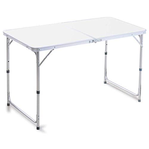 Klaptafel + 4 klapstoelen tafel stoelcombinatie Indoor Outdoor in hoogte verstelbaar bureau wit/blauw/rood/groen (kleur: C) C