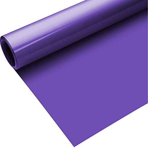 Heat Transfer Vinyl Roll for T-Shirts, Hats, Clothing, Iron on HTV Compatible with Cricut, Cameo, Heat Press Machines, Sublimation (Purple, 12 Inch x 5 Feet)