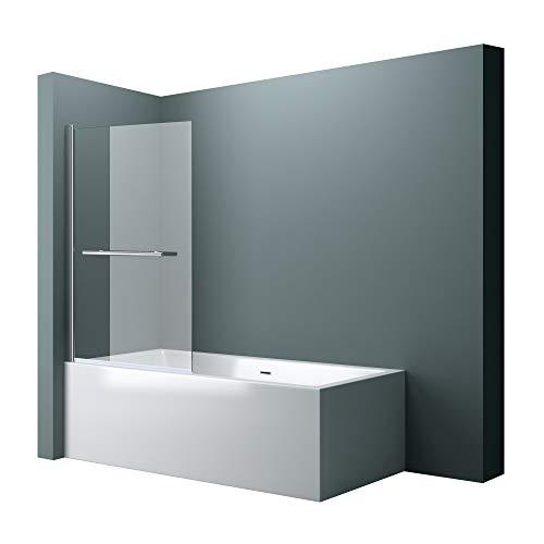 BxH: 90x140 cm Design Duschabtrennung Cortona1121 Badewannenaufsatz, 6mm ESG-Sicherheitsglas Klarglas, inkl. Nanobeschichtung, Badewannenfaltwand,