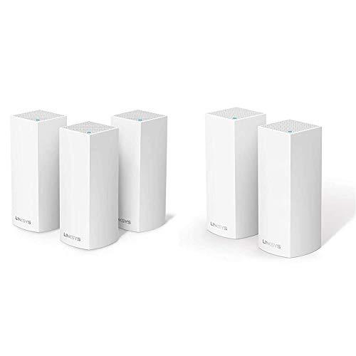 Linksys WHW0303 Sistema Velop WiFi Mesh tribanda para Todo el hogar + WHW0302 Sistema Velop WiFi Mesh tribanda para Todo el hogar (Router/Extensor WiFi AC4400, sin interrupciones
